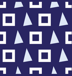 seamless pattern triangles and squares on a vector image