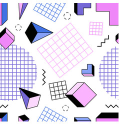 seamless pattern with pink blue and purple vector image