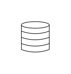 server disks icon vector image