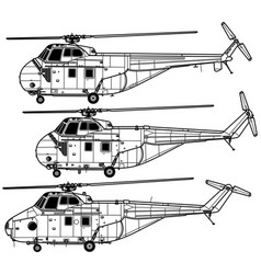 Sikorsky h-19 chickasaw westland whirlwind vector