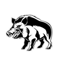 Silhouette a wild boar a wild pig vector