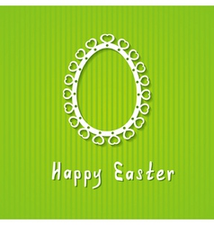 simple Easter greeting card vector image