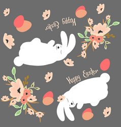 sleeping easter bunnies vector image