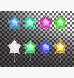 Star balloon colorful set vector