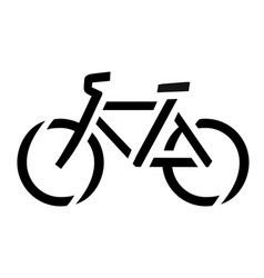 Stencil bike symbol vector