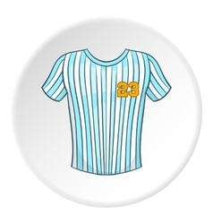 Striped baseball shirt icon cartoon style vector image