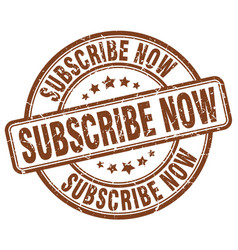 subscribe now stamp vector image