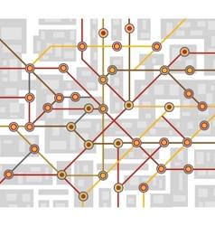 subway map vector image