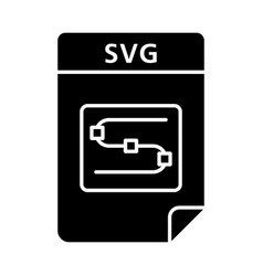Svg file glyph icon scalable graphics image file vector