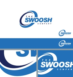 Swoosh Abstract Symbol Branding Element Template vector image