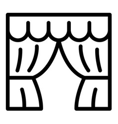 theatre curtains icon outline style vector image