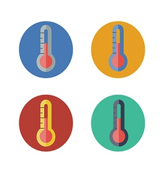 Thermometer icon set vector