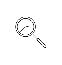 time search icon vector image