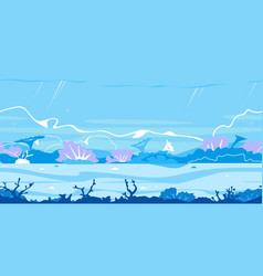 underwater bottom game background vector image