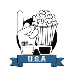 Usa movies and entertainment vector