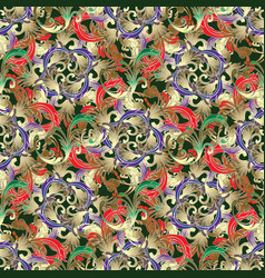 vintage floral seamless pattern baroque vector image