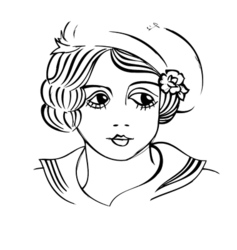 Vintage Girl vector image vector image