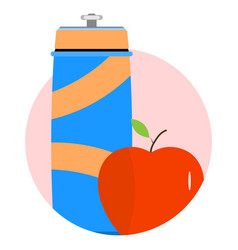 Water and food to sport and fitness icon vector