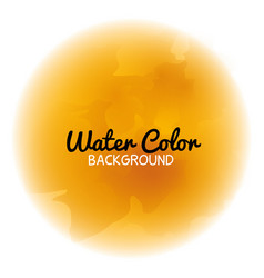 Water color background icon vector