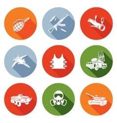 Weapons Icons Set vector image