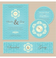 Wedding set blue vector