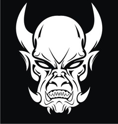 White Demon Face vector image