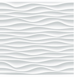 White wave pattern abstract 3d background vector