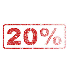 20 percent rubber stamp vector image vector image