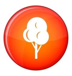 Autumn tree icon flat style vector