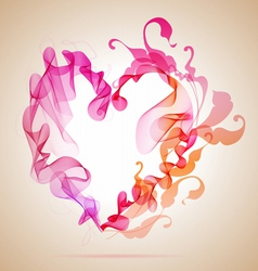 Floral Abstratct Heart vector image vector image