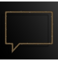 Frame Gold Sequins Speech Bubble Sparkle Stars vector image