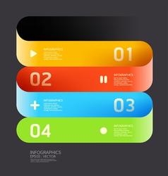 Modern Curve color Design template vector image