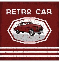 Retro car old vintage grunge poster vector