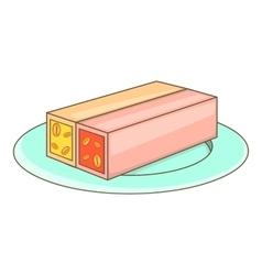 Turkish sweets icon cartoon style vector image