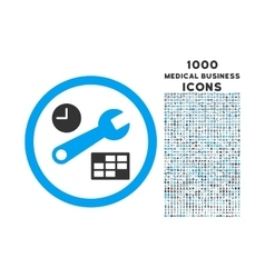 Date and Time Setup Rounded Icon with 1000 Bonus vector image vector image