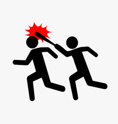 icon robbery pictogram violence flat style one vector image