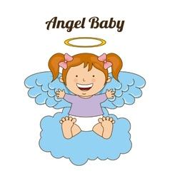 angel baby vector image