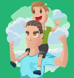 Dad Son Couple Cartoon vector image vector image