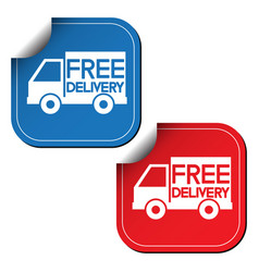 free delivery labels or stickers vector image