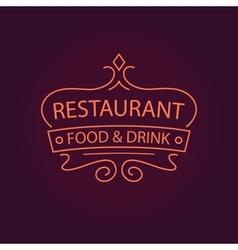 Restaurant logo vector image