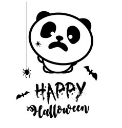 scared panda spiders attacked the panda vector image vector image