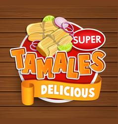 tamales delicious logo symbol sticker vector image vector image