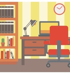 Background of modern workplace vector image