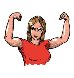 cartoon image of gym woman vector image vector image