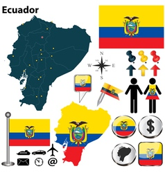 Ecuador map vector image vector image