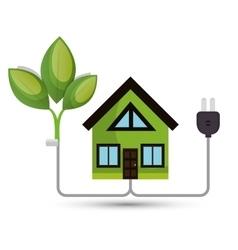 environmental concept house tree energy vector image