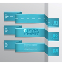 Modern blue banner Item vector image