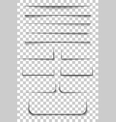 page divider transparent realistic paper shadow vector image vector image