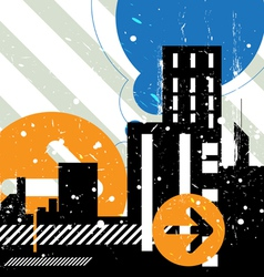 urban scene background vector image