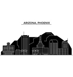usa arizona phoenix architecture city vector image